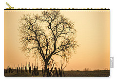 Country Fence Sunset Carry-all Pouch