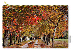 Carry-all Pouch featuring the photograph Country Lane In Autumn by Jerry Gammon