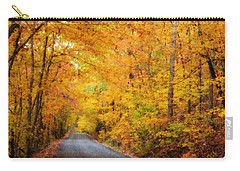 Country Road In Fall Carry-all Pouch
