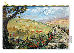 Carry-all Pouch featuring the painting Country Road by Lee Piper