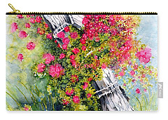 Carry-all Pouch featuring the painting Country Rose by Janine Riley