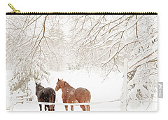 Country Snow Carry-all Pouch by Cheryl Baxter