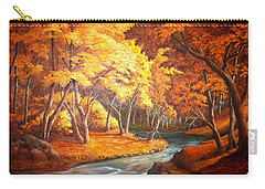 Country Stream In The Fall Carry-all Pouch