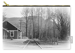 Carry-all Pouch featuring the photograph Country Train Depot by Tikvah's Hope