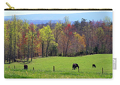 Carry-all Pouch featuring the photograph Countryside In Spring by Kathryn Meyer