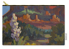 Courthouse Rock Sedona Carry-all Pouch by Diane McClary