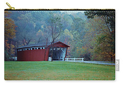 Carry-all Pouch featuring the photograph Covered Bridge by Diane Alexander