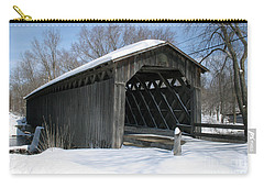 Covered Bridge In Winter Carry-all Pouch