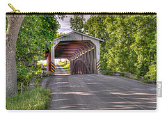 Carry-all Pouch featuring the photograph Covered Bridge by Jim Thompson