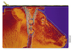 Cow Pop Art Carry-all Pouch by Jean luc Comperat