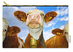 Cow Looking At You - Funny Animal Picture Carry-all Pouch