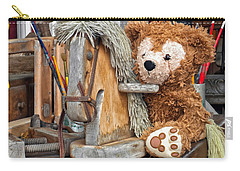 Carry-all Pouch featuring the photograph Cowboy Bear by Thomas Woolworth