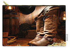 Cowboy Boots In A Ranch Barn Carry-all Pouch
