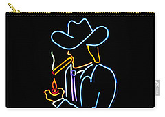 Cowboy In Neon Carry-all Pouch