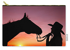 Cowgirl Sunset Carry-all Pouch