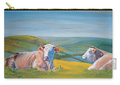 Cows Lying Down Painting Carry-all Pouch