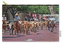 Cowtown Cattle Drive Carry-all Pouch by David and Carol Kelly