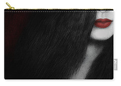 Carry-all Pouch featuring the painting Coy by Pat Erickson