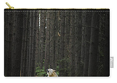 Coyote Howling In Woods Carry-all Pouch