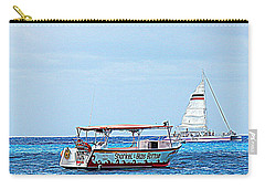 Carry-all Pouch featuring the photograph Cozumel Excursion Boats by Debra Martz
