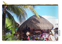 Carry-all Pouch featuring the photograph Cozumel Souvernir Shopping by Debra Martz