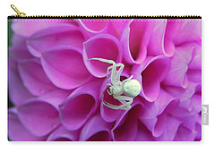 Crab Spider And Dahlia Carry-all Pouch