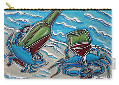 Crab Wine Time Carry-all Pouch