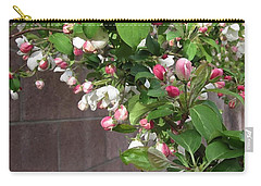 Crabapple Blossoms And Wall Carry-all Pouch