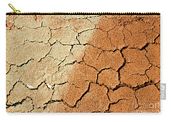 Carry-all Pouch featuring the photograph Cracked Soil In Red Shades by Les Palenik