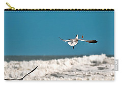 Carry-all Pouch featuring the photograph Cracker Tracker by DigiArt Diaries by Vicky B Fuller