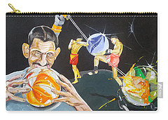 Carry-all Pouch featuring the painting Cracking Marvels Cascando Canicas by Lazaro Hurtado