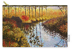Carry-all Pouch featuring the painting Cranberry Bog by Jason Williamson