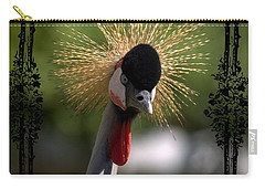 Carry-all Pouch featuring the photograph Crane by Athala Carole Bruckner