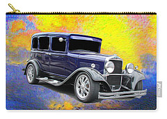 Classic Cars Carry-all Pouch featuring the photograph Crank It  by Aaron Berg