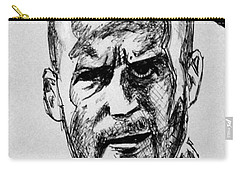 Carry-all Pouch featuring the painting Jason Statham by Salman Ravish