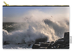 Carry-all Pouch featuring the photograph Crashing Surf by Marty Saccone