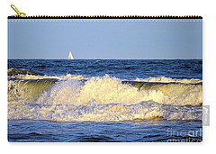 Crashing Waves And White Sails Carry-all Pouch