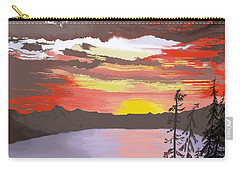 Crater Lake Carry-all Pouch by Terry Frederick