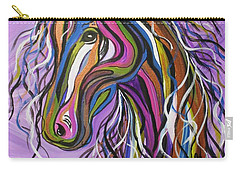 Carry-all Pouch featuring the painting Crazy Horse by Janice Rae Pariza