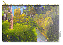 Creek In The Bush Carry-all Pouch by Pamela  Meredith