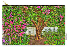 Carry-all Pouch featuring the photograph Crepe Myrtle In Wiliamsburg Garden by Jerry Gammon