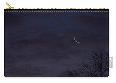 Crescent Moon And Venus Rising Carry-all Pouch