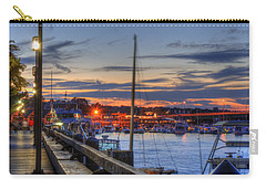 Crescent Moon Over Newburyport Harbor Carry-all Pouch by Joann Vitali