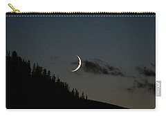 Carry-all Pouch featuring the photograph Crescent Silhouette by Jeremy Rhoades