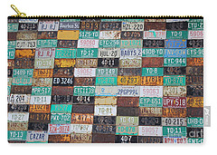 Crested Butte License Plate House Carry-all Pouch by Fiona Kennard