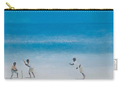 Cricket On The Beach, 2012 Acrylic On Canvas Carry-all Pouch by Lincoln Seligman