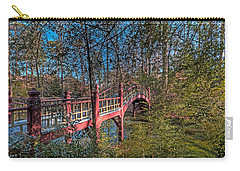 Carry-all Pouch featuring the photograph Crim Dell Bridge by Jerry Gammon