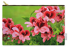 Crimson And Coral Carry-all Pouch by E Faithe Lester