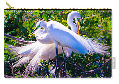 Criss-cross Egrets Carry-all Pouch by Susan Molnar