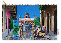 Capilla De Cristo - Old San Juan Carry-all Pouch by The Art of Alice Terrill